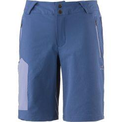 Szorty softshellowe w kolorze niebieskim. Niebieskie bermudy damskie OCK, w paski, z materiału. W wyprzedaży za 99,95 zł.