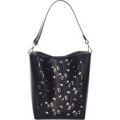 Torebki klasyczne damskie: Skórzana torebka w kolorze czarnym – (S)30 x (W)55 x (G)12 cm