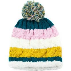 Czapka damska Futerkowe podbicie różowo żółta. Czerwone czapki zimowe damskie Art of Polo. Za 37,60 zł.
