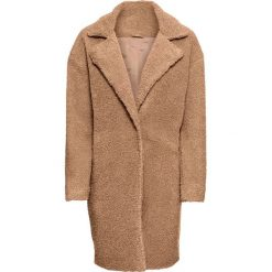 Płaszcz ze sztucznego futerka bonprix beżowy. Brązowe płaszcze damskie bonprix. Za 219,99 zł.
