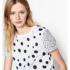 T-shirty damskie: Podwójny t-shirt w groszki