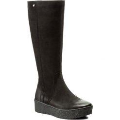 Kozaki EVA MINGE - Felipa 2W 17SM1372229EF 401. Czarne buty zimowe damskie Eva Minge, z nubiku. W wyprzedaży za 319,00 zł.