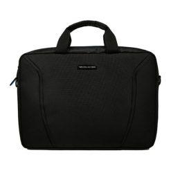 Torby na laptopa: Torba w kolorze niebiesko-czarnym na laptopa – (S)28 x (W)40 x (G)5 cm