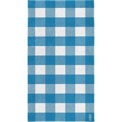 """Kąpielówki męskie: Ręcznik plażowy """"Playa"""" w kolorze niebiesko-białym"""