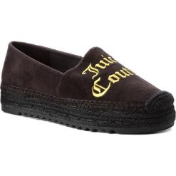 Espadryle JUICY COUTURE BLACK LABEL - Yolanda Velvet JB219 Pitch Black/Buttersc. Czarne espadryle damskie Juicy Couture Black Label, z materiału, na płaskiej podeszwie. W wyprzedaży za 379,00 zł.