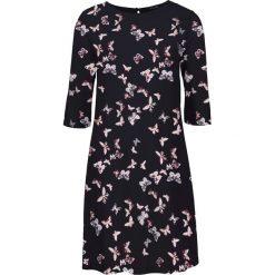 Sukienka z wiskozy bonprix czarny z nadrukiem w motyle. Czarne sukienki balowe bonprix, z nadrukiem, z wiskozy. Za 74,99 zł.