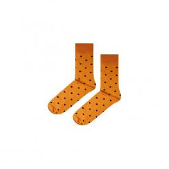 Skarpetki Mustard Dots. Brązowe skarpetki męskie marki NABAIJI, z elastanu. Za 16,00 zł.
