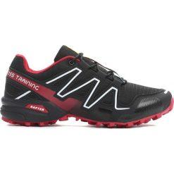 Buty sportowe męskie: Czarno-Czerwone Buty Sportowe Hidden Track