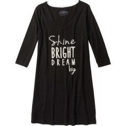 Koszule nocne i halki: Koszula nocna bonprix czarno-biały z nadrukiem