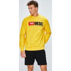 Diesel - Bluza. Żółte bluzy męskie rozpinane Diesel, l, z aplikacjami, z bawełny, bez kaptura. Za 569,90 zł.