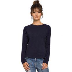 CARTER Bluzka z rękawami z tkaniny - granatowa. Niebieskie bluzki wizytowe BE, l, z dzianiny, biznesowe. Za 109,00 zł.