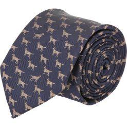 Krawat platinum granatowy classic 249. Niebieskie krawaty męskie Recman. Za 49,00 zł.