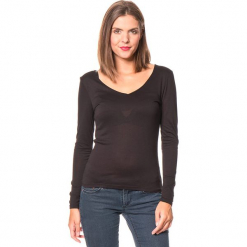 Koszulka w kolorze czarnym. Czarne bluzki z odkrytymi ramionami Assuili, klasyczne, z długim rękawem. W wyprzedaży za 45,95 zł.