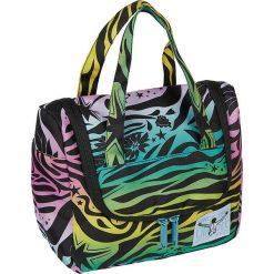 """Kosmetyczka """"Toiletery"""" z kolorowym wzorem - 25 x 20 x 12 cm. Szare kosmetyczki damskie Chiemsee Bags, w kolorowe wzory. W wyprzedaży za 61,95 zł."""