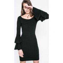 Haily's - Sukienka Liz. Czarne długie sukienki marki Haily's, na co dzień, l, z dzianiny, casualowe, z długim rękawem, dopasowane. W wyprzedaży za 69,90 zł.