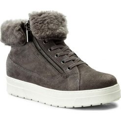 Botki CAPRICE - 9-26470-29 Dk Grey/White 205. Szare buty zimowe damskie Caprice, ze skóry. W wyprzedaży za 279,00 zł.