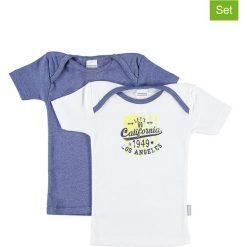 T-shirty chłopięce z nadrukiem: Koszulki (2 szt.) w kolorze białym i niebieskim