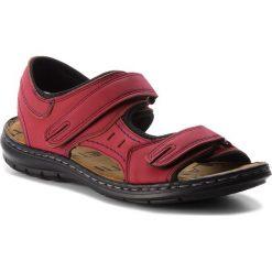 Sandały LANETTI - MSA426-1 Czerwony. Czerwone sandały męskie skórzane Lanetti. Za 89,99 zł.