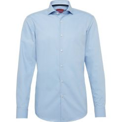 Koszule męskie na spinki: HUGO - Koszula męska łatwa w prasowaniu – C-Jery, niebieski