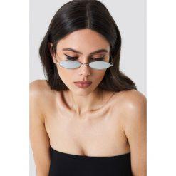 Okulary przeciwsłoneczne damskie: NA-KD Trend Owalne okulary przeciwsłoneczne retro – Silver