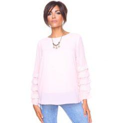 """Bluzki damskie: Koszulka """"Estelle"""" w kolorze jasnoróżowym"""