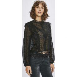Answear - Bluzka. Czarne bluzki z golfem marki ANSWEAR, l, z koronki, casualowe. W wyprzedaży za 89,90 zł.