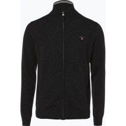 Gant - Kardigan męski, szary. Niebieskie swetry rozpinane męskie marki bonprix, m, z nadrukiem, z klasycznym kołnierzykiem, z długim rękawem. Za 589,95 zł.