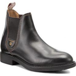 Sztyblety GANT - Lydia 15541034 Black G00. Czarne buty zimowe damskie GANT, z materiału, na obcasie. W wyprzedaży za 409,00 zł.