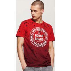 T-shirt Czerwony. Czerwone t-shirty męskie marki House, m. Za 39,99 zł.