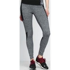 Spodnie damskie: Szaro-Czarne Legginsy Fashion Editor