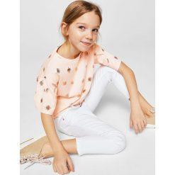 Mango Kids - Top dziecięcy Alovi 110-164 cm. Szare bluzki dziewczęce Mango Kids, z bawełny, z okrągłym kołnierzem. Za 49,90 zł.