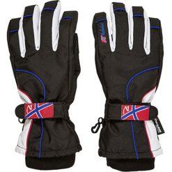 """Rękawiczki męskie: Rękawiczki narciarskie """"Spike"""" w kolorze czarno-białym"""