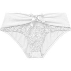 """Figi """"panty"""" bonprix biały. Białe figi bonprix, w koronkowe wzory, z koronki. Za 34,99 zł."""