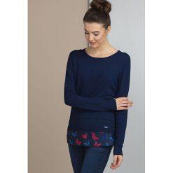 Swetry klasyczne damskie: Sweter z koszulową wstawką