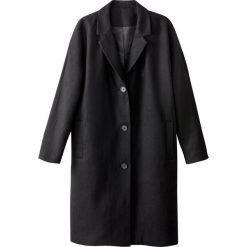 Płaszcze damskie pastelowe: Długi obszerny płaszcz 40% wełny