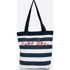Answear - Torebka. Szare torebki klasyczne damskie ANSWEAR, z bawełny, duże. W wyprzedaży za 34,90 zł.
