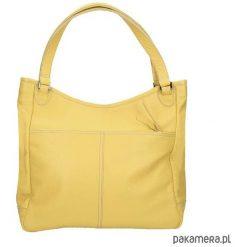 Torebka skórzana żółta Quotidiana marki Bolsa. Żółte torebki klasyczne damskie Pakamera, ze skóry. Za 609,00 zł.