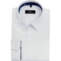 Koszula MICHELE 1F KDBE000066. Białe koszule męskie na spinki marki bonprix, z klasycznym kołnierzykiem. Za 199,00 zł.