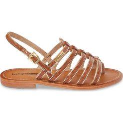 Sandały damskie: Skórzane sandały japonki Herbier