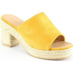 Chodaki damskie: Klapki w kolorze żółtym