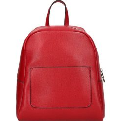 """Plecaki damskie: Skórzany plecak """"Victor Hugo"""" w kolorze czerwonym – 22 x 26 x 13 cm"""