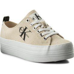 Sneakersy CALVIN KLEIN JEANS - Zolah Heavy RE9730 Natural/White. Brązowe sneakersy damskie Calvin Klein Jeans, z jeansu. W wyprzedaży za 279,00 zł.