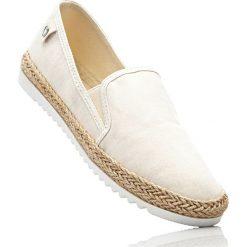 Buty sportowe wsuwane bonprix zielono-szaro-beżowy. Szare buty sportowe damskie marki bonprix, z materiału. Za 27,99 zł.