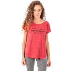 4f Koszulka damska H4Z18-TSD006 czerwony r. M. Czerwone bluzki z odkrytymi ramionami marki 4f, m. Za 45,99 zł.
