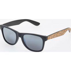 Okulary przeciwsłoneczne - Beżowy. Brązowe okulary przeciwsłoneczne damskie lenonki Reserved. Za 49,99 zł.