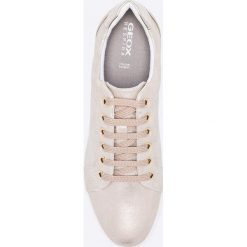 Geox - Buty. Szare buty sportowe damskie Geox, z materiału. W wyprzedaży za 239,90 zł.