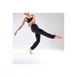 Spodnie do tańca damskie. Czarne bryczesy damskie DOMYOS, l, z elastanu, na fitness i siłownię. Za 49,99 zł.