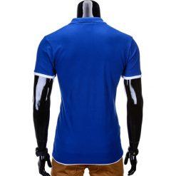 KOSZULKA MĘSKA POLO BEZ NADRUKU S758 - NIEBIESKA. Niebieskie koszulki polo Ombre Clothing, m, z nadrukiem. Za 39,00 zł.