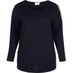 """Bluzki sportowe damskie: Koszulka """"Sport"""" w kolorze granatowo-białym"""