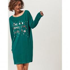 Koszula nocna - Zielony. Zielone koszule nocne i halki Reserved. Za 79,99 zł.